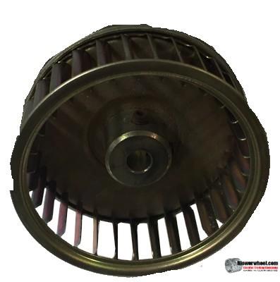 "Single Inlet Galvanized Steel Blower Wheel 2-3/8"" Diameter 15/16"" Width 1/4"" Bore with Clockwise Rotation SKU: 02120030-008-GS-AA-CW-001"