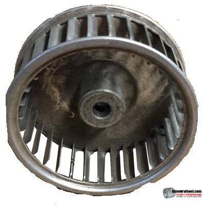 "Single Inlet Aluminum Blower Wheel 2-1/2"" Diameter 1"" Width 5/16"" Bore with Clockwise Rotation SKU: 02160100-010-A-AA-CW-001"