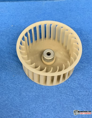 "Single Inlet Plastic Blower Wheel 2-3/4"" Diameter 1-1/4"" Width 1/4"" Bore with Counterclockwise Rotation SKU: 02240104-008-PS-CCW-001"