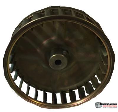 "Single Inlet Steel Blower Wheel 3-3/4"" Diameter 1"" Width 1/4"" Bore with Clockwise Rotation SKU: 03240100-008-S-AA-CW-001"