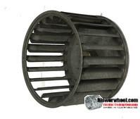 "Single Inlet Steel Blower Wheel 3-3/4"" Diameter 2-7/16"" Width 3/16"" Bore with Counterclockwise Rotation SKU: 03240214-006-S-AA-CCW-001"