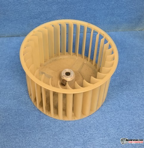 """Single Inlet Plastic Blower Wheel 4-1/2"""" Diameter 2-7/16"""" Width 1/4"""" Bore with Clockwise Rotation SKU: 04160214-008-PS-CW-01"""