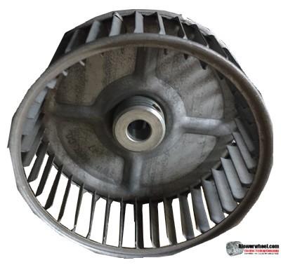 "Single Inlet Steel Blower Wheel 4-5/8"" Diameter 2"" Width 1/2"" Bore with Clockwise Rotation SKU: 04200200-016-S-AA-CW-001"