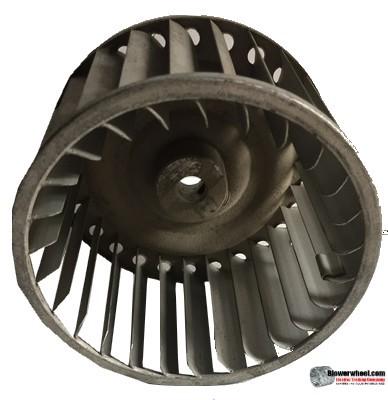 "Single Inlet Steel Blower Wheel 5"" Diameter 2-7/8"" Width 1/2"" Bore with Clockwise Rotation SKU: 05000228-016-S-AA-CW-001"