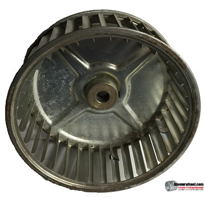"Single Inlet Steel Blower Wheel 6-5/16"" Diameter 2-7/16"" Width 1/2"" Bore with Clockwise Rotation SKU: 06100214-016-S-AA-CW-001"