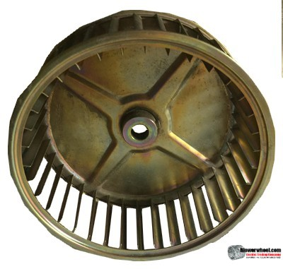 "Single Inlet Steel Blower Wheel 6-5/16"" Diameter 2-1/2"" Width 1/2"" Bore with Clockwise Rotation SKU: 06100216-016-GS-AA-CW-001"