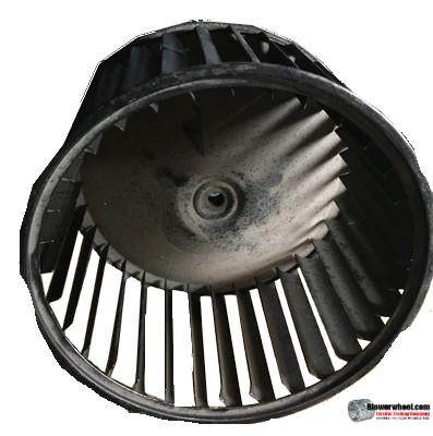"Single Inlet Steel Blower Wheel 6-3/4"" Diameter 3-3/4"" Width 5/16"" Bore with Clockwise Rotation SKU: 06240324-010-S-AA-CW-001"