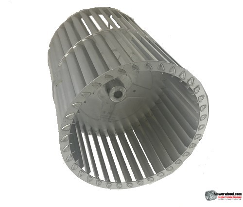 """Double Inlet Aluminum Blower Wheel 7-1/2"""" Diameter 9-1/8"""" Width 1/2"""" Bore with Counterclockwise Rotation SKU: 07160904-016-A-T-CCWDW-001"""