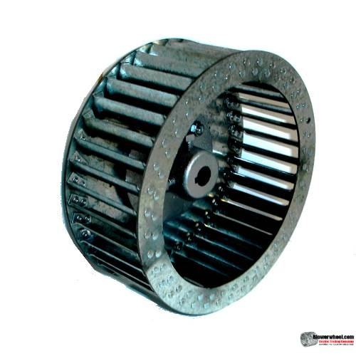 "Single Inlet Steel Blower Wheel 9"" D 5-1/8"" W 15/16"" Bore-Counterclockwise  rotation- with inside hub SKU: 0900504-030-HD-S-CCW"