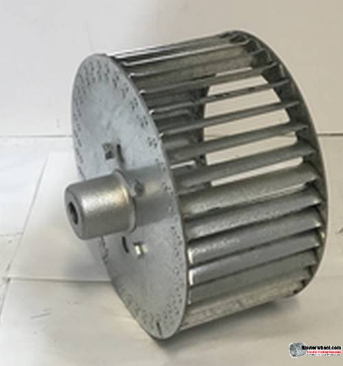 "Single Inlet Aluminum Blower Wheel 6-1/4"" D 3-1/8"" W 1/2"" Bore-Clockwise  rotation- with outside hub SKU: 06080304-016-HD-A-CW-O"