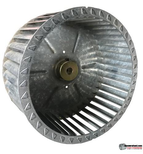 "Single Inlet Steel Blower Wheel 8-1/2"" Diameter 4-7/8"" Width 1/2"" Bore with Clockwise Rotation SKU: 08160428-016-S-T-CW-001"
