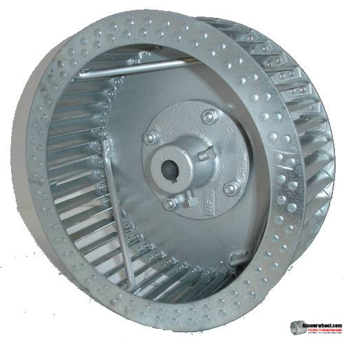 "Single Inlet Steel Blower Wheel 9"" Diameter 3-1/8"" Width 9/16"" Bore Counterclockwise rotation with an Inside Hub and Re-Rods"