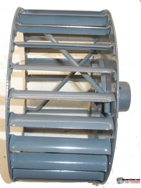 "Single Inlet Steel Blower Wheel 9"" Diameter 4-3/8"" Width 5/8"" Bore Counterclockwise rotation with Outside Hub and Re-Rods"