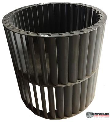 "Double Inlet Steel Blower Wheel 9"" Diameter 8-7/8"" Width 5/8"" Bore with Counterclockwise Rotation SKU: 09000828-020-S-T-CCWDW-001"