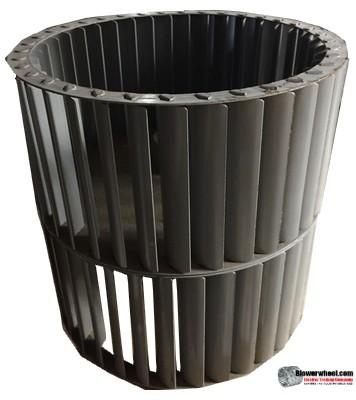 "Double Inlet Steel Blower Wheel 9"" Diameter 8-7/8"" Width 3/4"" Bore with Counterclockwise Rotation SKU: 09000828-024-S-T-CCWDW-001"
