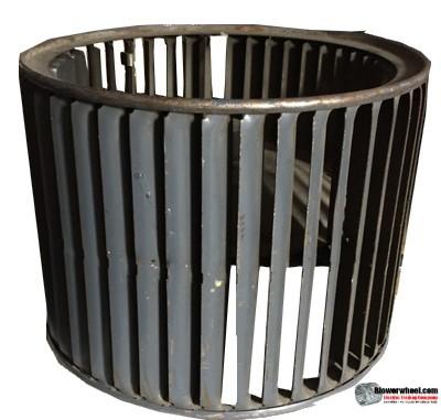 "Double Inlet Steel Blower Wheel 9-1/2"" Diameter 7-1/8"" Width 1/2"" Bore with Counterclockwise Rotation SKU: 09160704-016-S-AA-CCWDW-001"