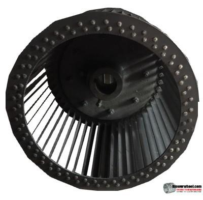 "Single Inlet Steel Blower Wheel 9-3/4"" Diameter 7-1/2"" Width 1-1/2"" Bore with Clockwise Rotation SKU: 09240716-116-S-T-CW-001"