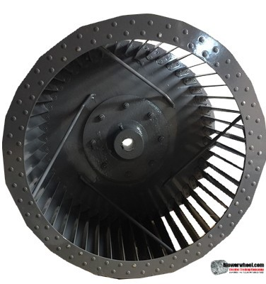 "Single Inlet Steel Blower Wheel 15-1/2"" Diameter 8-7/8"" Width 1"" Bore with Counterclockwise Rotation SKU: 15160828-100-S-T-CCW-001"
