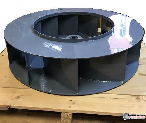"Single BackIncline  Steel Blower Wheel 8-3/4"" D 3-1/2"" W 19mm Bore- 6 Blades FLAT FRONT INLET SKU: BIW08240316-19mm-S-6FB-CCW"