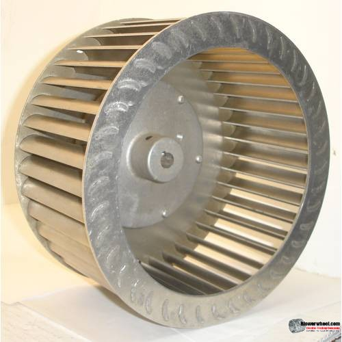 "Single Inlet Steel Blower Wheel 9"" D 3-1/8"" W 24mm Bore-Clockwise  rotation- with inside-outside hub and all steel construction SKU: 09000304-24mm-HD-S-CW-IH-OH"