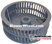 "Single Inlet Steel Blower Wheel 7-1/2"" Diameter 4-1/8"" Width 1/2"" Bore Clockwise rotation with an Outside Hub and Re-Ring"