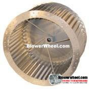 "Single Inlet Steel Blower Wheel 7-1/2"" Diameter 4-3/8"" Width 1/2"" Bore Counterclockwise rotation with an Inside Hub and Re-Rods"
