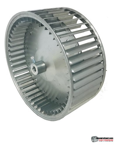 "Double Inlet Galvanized Steel Blower Wheel 12"" D 11"" W 1/2"" Bore-Clockwise  rotation- with inside hub SKU: 12001100-016-AA-GS-CWDW"