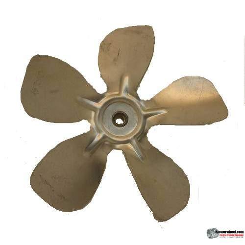 "Fan Blade 8"" Diameter - SKU:FB-0800-5-R-AS-CCW-010-B-001-Q1-Sold in Quantity of 1"