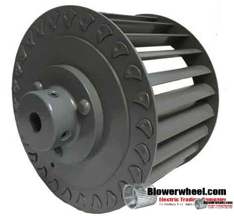 "Single Inlet Steel Blower Wheel 7"" D 3-1/8"" W 1/2"" Bore-Clockwise  rotation- with outside hub SKU: 07000304-016-HD-S-CW-O"