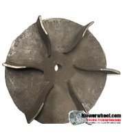 "Paddle Wheel Cast Aluminum Blower Wheel 8-7/8"" Diameter 3"" Width 5/8"" Bore with  with an outside hub SKU: PW08280300-020-CastA-Blade6Foil-01 AS IS"