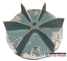 "Paddle Wheel Cast Aluminum Blower Wheel 10-1/2"" Diameter 3"" Width 5/8"" Bore with Clockwise-Counterclockwise Rotation SKU: pw10160300-020-casta-6flatblade-01 ASIS"