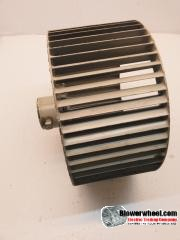 "Single Inlet Aluminum Blower Wheel 12-3/8"" Diameter 7-1/2"" Width 1"" Bore Clockwise rotation with an Outside Hub"