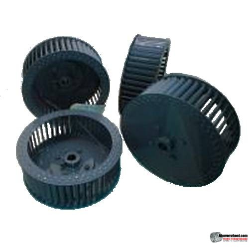 "Single Inlet Steel Blower Wheel 7-1/2"" Diameter 5-1/8"" Width 1/2"" Bore Counterclockwise rotation with Outside Hub and Re-Rods"