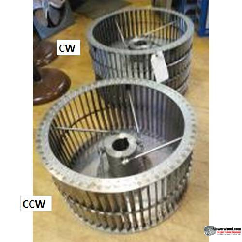 "Single Inlet Steel Blower Wheel 10-13/16"" Diameter 5-1/8"" Width 11/16"" Bore Counterclockwise rotation with a Outside Hub and Re-Ring"