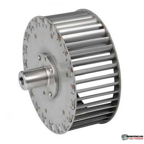 "Single Inlet Steel Blower Wheel 9"" Diameter 3-1/8"" Width 9/16"" Bore Counterclockwise rotation with an Outside Hub"