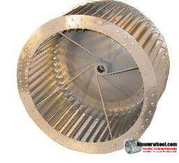 "Single Inlet Aluminum Blower Wheel 9"" Diameter 5-1/8"" Width 9/16"" Bore Counterclockwise rotation with an Inside Hub and Re-Rods"