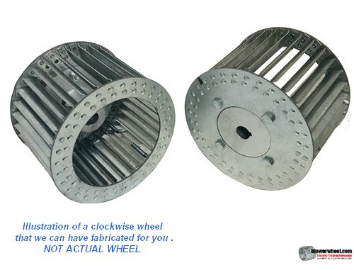 "Single Inlet Steel Blower Wheel 7-1/2"" Diameter 5-1/8"" Width 1/2"" Bore Clockwise rotation with an Inside Hub"