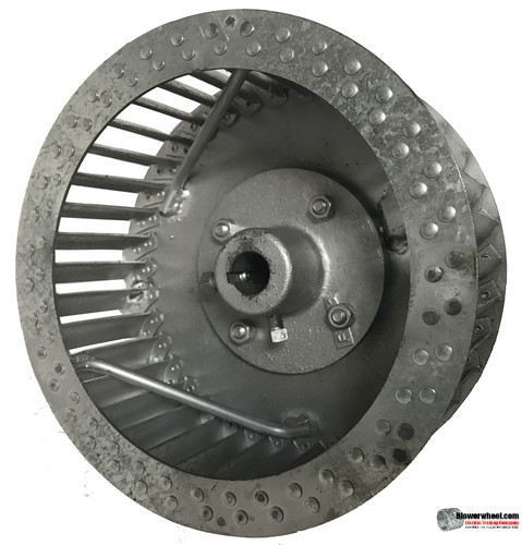 "Single Inlet Steel Blower Wheel 10-13/16"" Diameter 3-1/8"" Width 5/8"" Bore Clockwise rotation with an Inside Hub and Re-Rods"