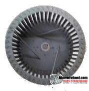"Single Inlet Steel Blower Wheel 9"" Diameter 3-1/8"" Width 5/8"" Bore Clockwise rotation with Outside Hub and Re-Rods"