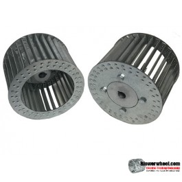 "Single Inlet Aluminum Blower Wheel 7-1/2"" Diameter 4-1/8"" Width 1/2"" Bore Counterclockwise rotation with an Inside Hub"