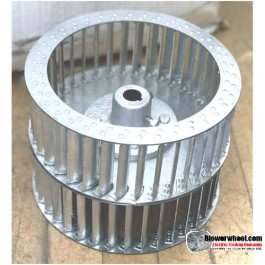 "Double Inlet Galvanized Steel Blower Wheel 8-1/2"" D 8-3/8"" W 5/8"" Bore with re-rods SKU: 08160812-020-HD-S-CWDW"