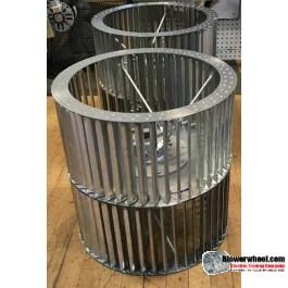 """Double Inlet Blower Wheel 18"""" D 18-1/4"""" W 1-15/16"""" Bore SKU: 18001808-130-HD-S-CWCCWDW-R"""