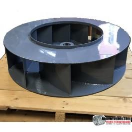 """Single BackIncline  Steel Blower Wheel 15-1/2"""" D 5-1/2"""" W 1-1/8"""" Bore- 11 Flat Blades SKU: BIW560516-104-HD-S-10-CW"""