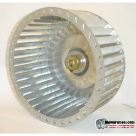 "Single Inlet Galvanized Steel Blower Wheel 6-5/16"" D 2-1/16"" W 5/16"" Bore-Clockwise  rotation- with inside hub SAMPLE WHEEL"