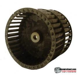 "Double Inlet  Blower Wheel 9-15/16"" Diameter 7""  Width 1-3/16"" Bore-Clockwise-Counterclockwise  rotation  SKU: 09300700-106-GS-T-DW"