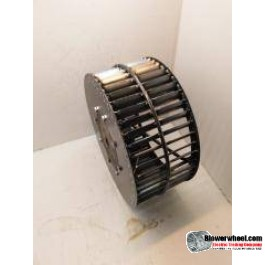 """Single Inlet Steel Blower Wheel 7-1/2"""" Diameter 5-1/8"""" Width 1/2"""" Bore Counterclockwise rotation with Inside Hub with Re-Rods and Re-Ring"""