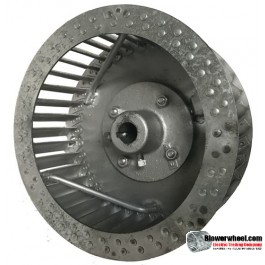 "Single Inlet Steel Blower Wheel 10"" D 6-1/8"" W 3/4"" Bore-Clockwise  rotation- with inside hub and re-rods SKU: 10000604-024-HD-S-CW-R"