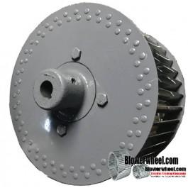"Single Inlet Steel Blower Wheel - Counterclockwise Rotation - Heavy Duty - 7/8"" Bore - Outside Hub - SKU 10200504-028-HD-S-CCW-O-003-Q1"