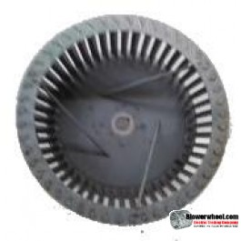 "Single Inlet Steel Blower Wheel 10-13/16"" Diameter 5-1/8"" Width 3/4"" Bore Clockwise rotation with Outside Hub and Re-Rods"