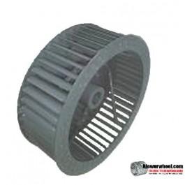 "Single Inlet Steel Blower Wheel 7"" D 3-1/8"" W 14mm Bore-Clockwise  rotation- with outside hub  SKU: 07000304-14mm-HD-S-CW-R-O"